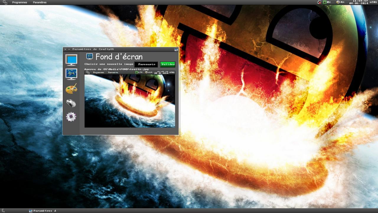 CraftyOS - Changement fond d'écran