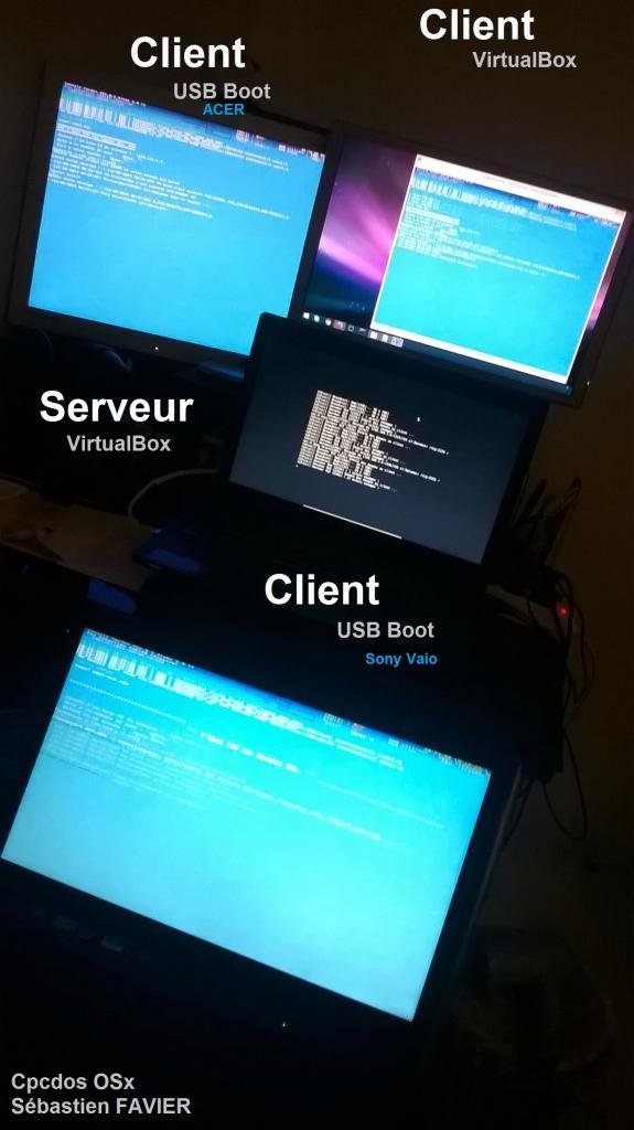 3 Clients 1 server