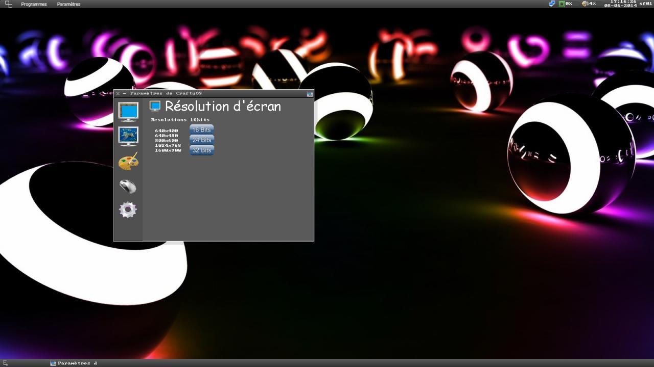 CraftyOS - Résolution d'écran